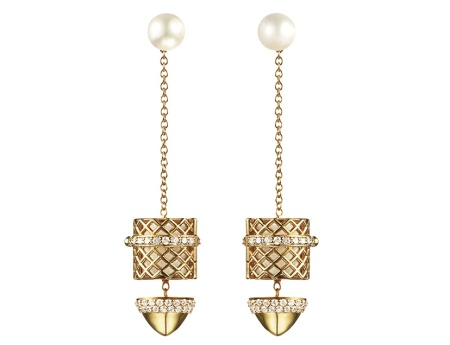 Paige Novick/Kilian Hennessey Yellow Gold Earrings, $4200 (USD)